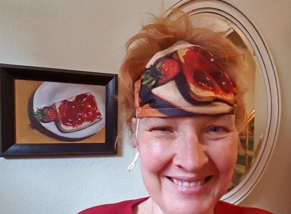 Erdbeere Maske