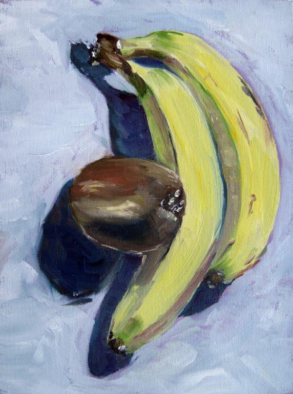 Banane und Kiwi