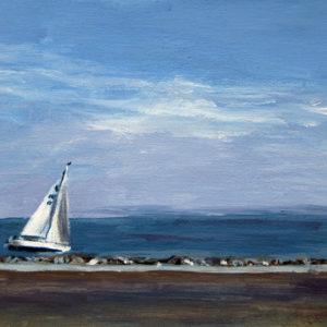 Segelboot vor Cuxhaven