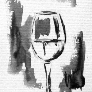Das Glas Wein