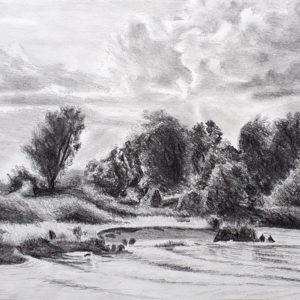Landschaft an der Weser